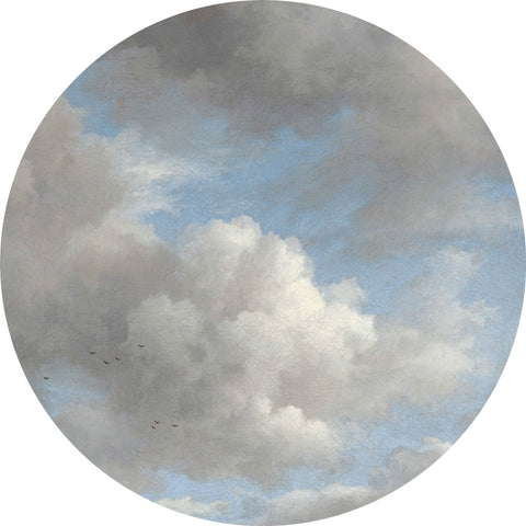 Golden Age Clouds Wallpaper Circle by KEK Amsterdam