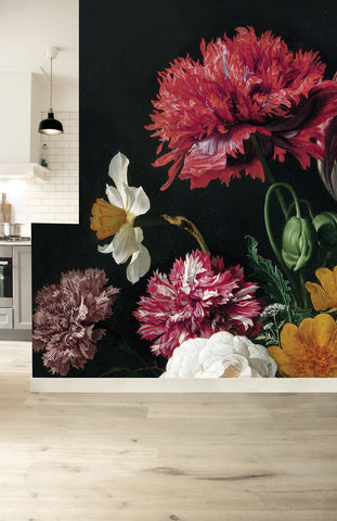 Golden Age Flowers 221 Wall Mural by KEK Amsterdam