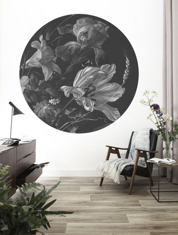 Golden Age Flowers Wallpaper Circle by KEK Amsterdam