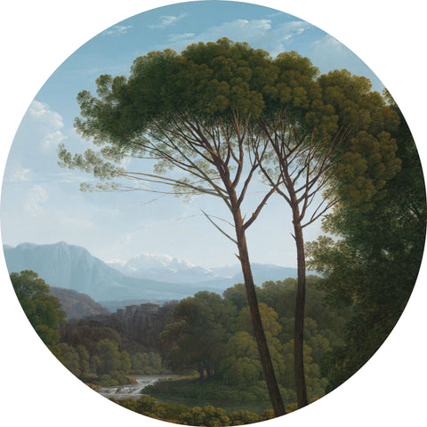 Golden Age Landscape 2 Wallpaper Circle by KEK Amsterdam