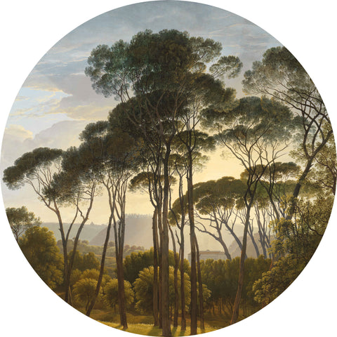Golden Age Landscape Wallpaper Circle by KEK Amsterdam