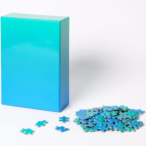 Gradient Puzzle in Blue & Green design by Areaware