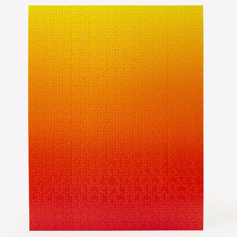 Gradient Puzzle in Red & Yellow design by Areaware