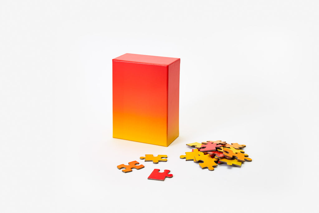 Gradient Puzzle Small in Red & Yellow design by Areaware
