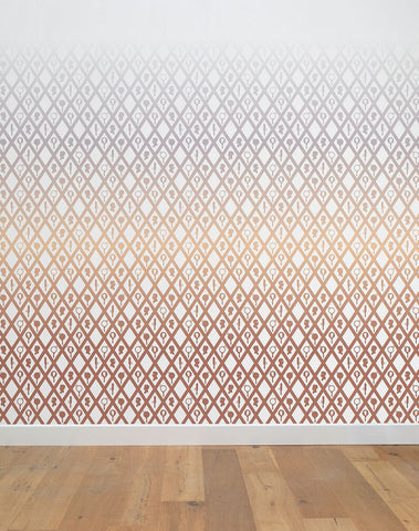 Gradient Wall Mural in Pink by Thomas Eurlings for NLXL Lab
