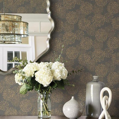 Grandeur Wallpaper from the Botanical Dreams Collection by Candice Olson for York Wallcoverings