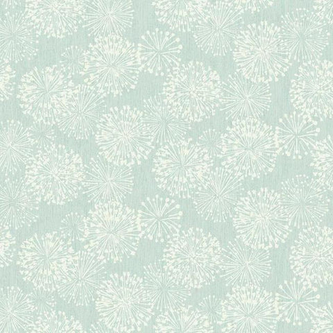 Grandeur Wallpaper in Light Blue from the Botanical Dreams Collection by Candice Olson for York Wallcoverings