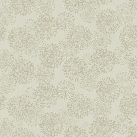 Grandeur Wallpaper in Taupe from the Botanical Dreams Collection by Candice Olson for York Wallcoverings