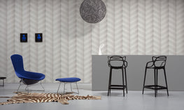 Buy Graphic Chevron Wallpaper By Studio Boot For NLXL Monochrome Collection And Large White Brooklyn Tins Merci
