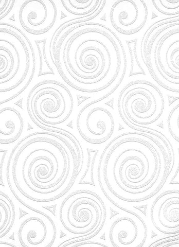 Graphic Swirls Paintable Wallpaper In White Design By BD Wall