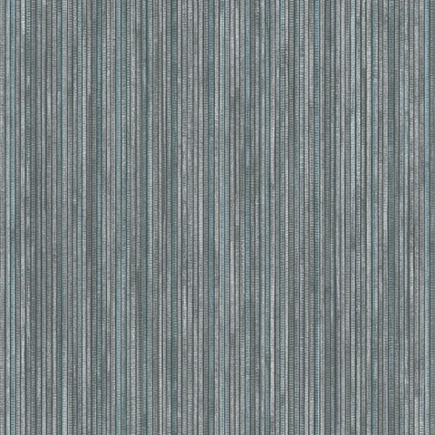 Grasscloth Self-Adhesive Wallpaper in Chambray by Tempaper