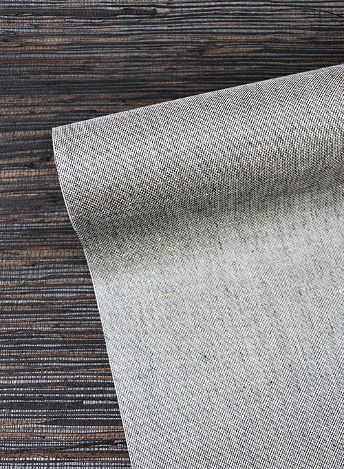 Inked Grass Wallpaper in Brown from the Grasscloth II Collection by York Wallcoverings
