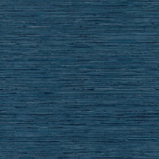 Grasscloth Peel Stick Wallpaper In Blue By Roommates For York Wallco Burke Decor