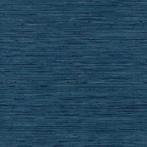Grasscloth Peel & Stick Wallpaper in Blue by RoomMates for York Wallcoverings