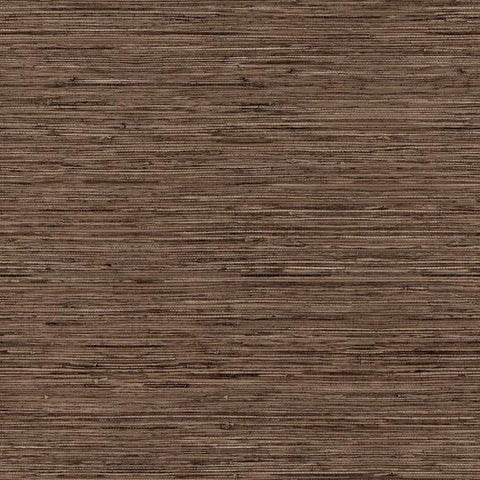 Grasscloth Peel & Stick Wallpaper in Brown by RoomMates for York Wallcoverings
