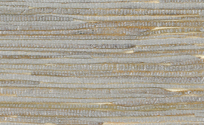 Grasscloth Wallpaper In Metallic And Off White Design By Seabrook Wall Burke Decor
