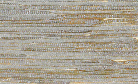 Sample Grasscloth Wallpaper in Metallic and Off-White design by Seabrook Wallcoverings