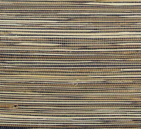 Grasscloth Wallpaper in Tan and Black from the Winds of the Asian Pacific Collection by Burke Decor