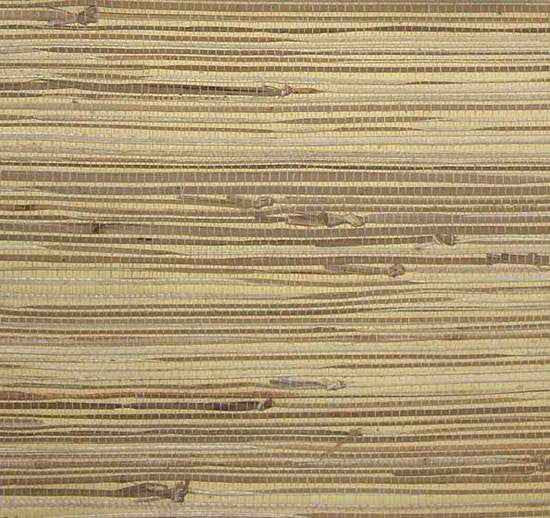 Grasscloth Wallpaper in Tan and Buttercream from the Winds of the Asian Pacific Collection by Burke Decor
