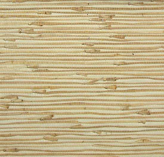 Sample Grasscloth Wallpaper in Tan and White from the Winds of the Asian Pacific Collection by Burke Decor