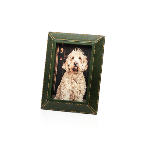 Green Leather Photo Frame in Various Sizes