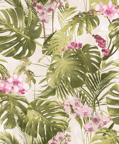 Sample Green Monstera Leaf Wallpaper by Walls Republic