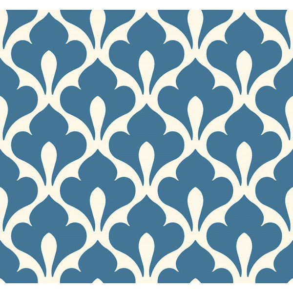 Sample Grenada Wallpaper in Blue from the Tortuga Collection by Seabrook Wallcoverings