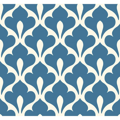 Grenada Wallpaper in Blue from the Tortuga Collection by Seabrook Wallcoverings