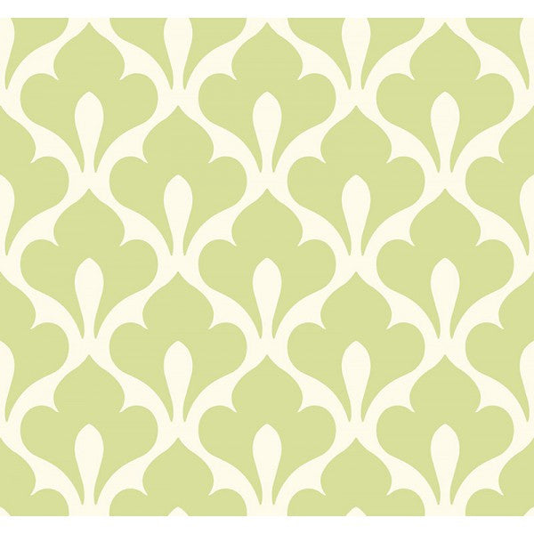 Grenada Wallpaper in Green from the Tortuga Collection by Seabrook Wallcoverings