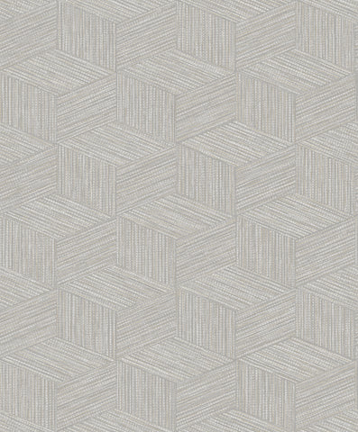 Sample Grey Dimensional Faux Grass Cloth Wallpaper by Walls Republic