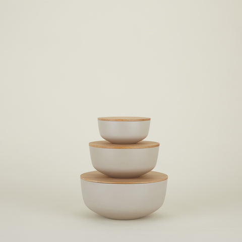 Essential Lidded Bowls - Set of 3in Various Colors