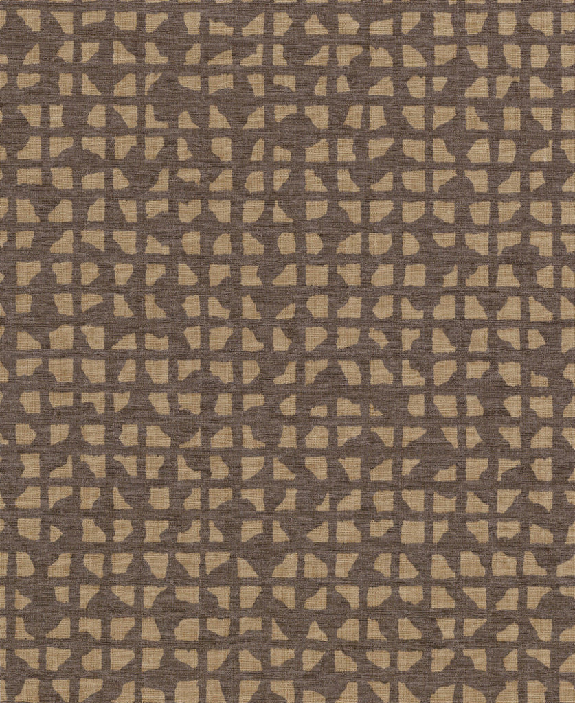 Grid Iron Wallpaper in Browns from Industrial Interiors II by Ronald Redding for York Wallcoverings