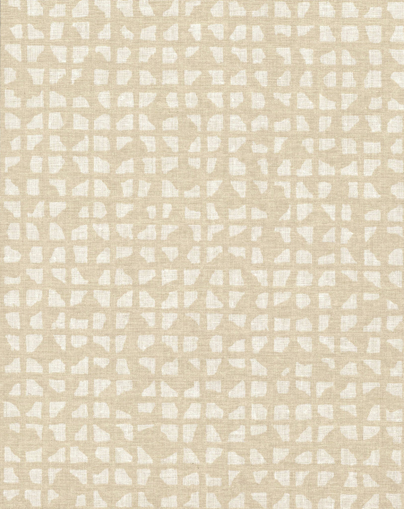 Sample Grid Iron Wallpaper in Off-Whites and Neutrals from Industrial Interiors II by Ronald Redding for York Wallcoverings