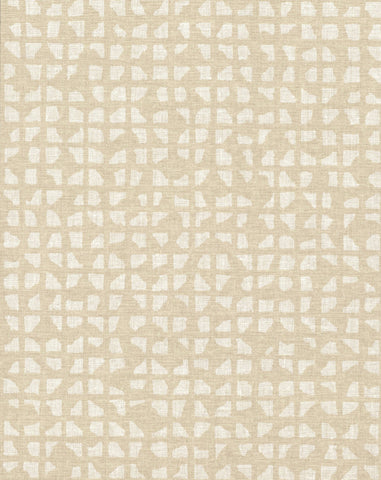 Grid Iron Wallpaper in Off-Whites and Neutrals from Industrial Interiors II by Ronald Redding for York Wallcoverings