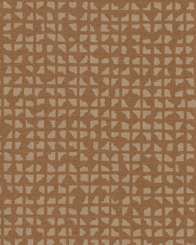 Grid Iron Wallpaper in Oranges and Bronze from Industrial Interiors II by Ronald Redding for York Wallcoverings