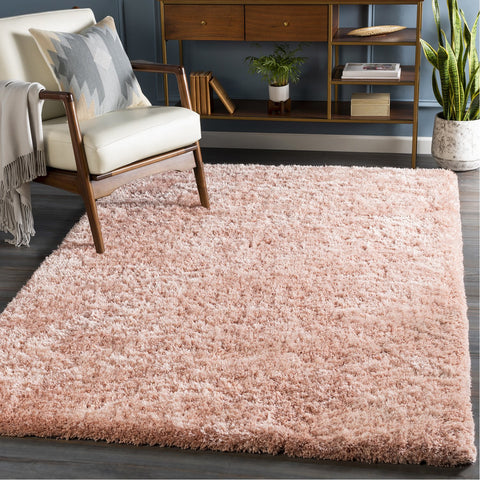 Grizzly Grizzly-13 Hand Woven Rug in Pale Pink by Surya