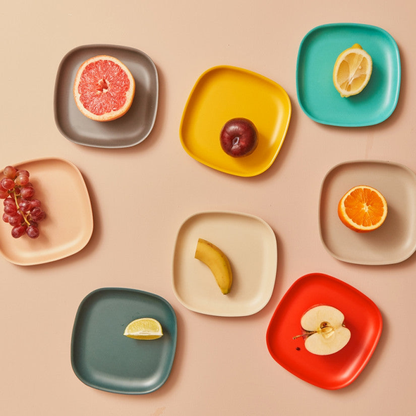 Gusto Bamboo Side Plate in Various Colors design by EKOBO