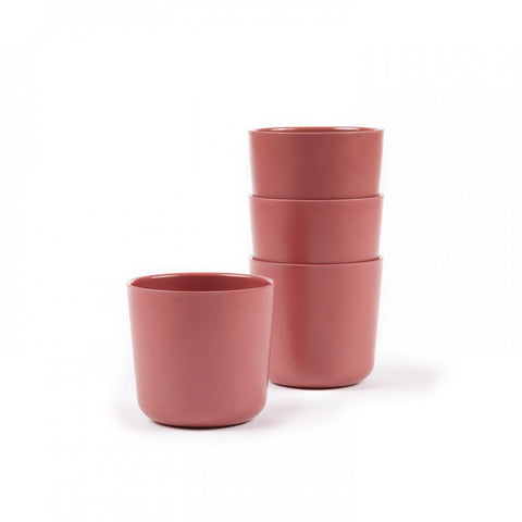 Gusto Bamboo Small Cup in Various Colors (Set of 4) design by EKOBO