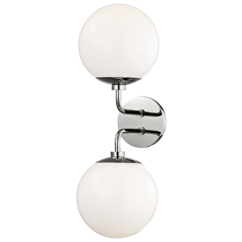 Stella 2 Light Wall Sconce by Mitzi