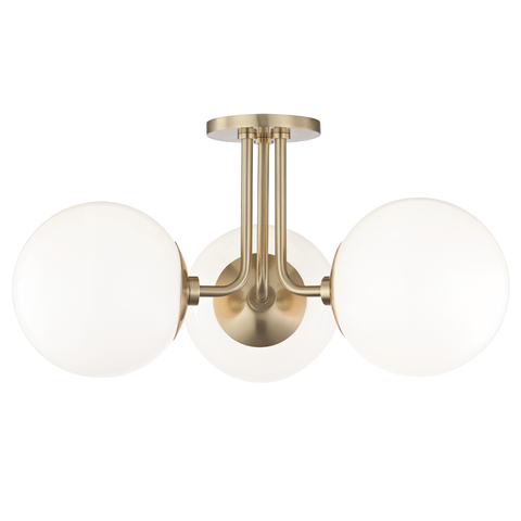 Stella 3 Light Semi Flush by Mitzi