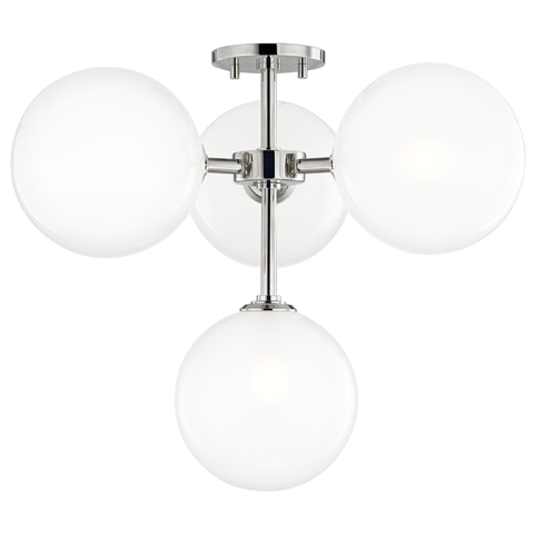 Ashleigh 4 Light Semi Flush