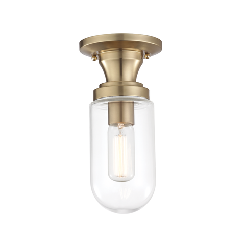Clara 1 Light Semi Flush by Mitzi