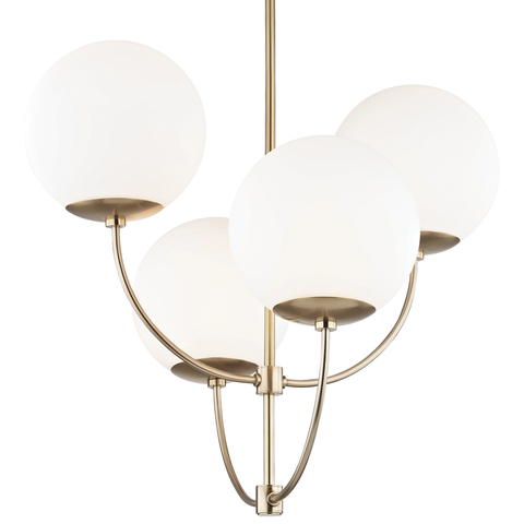 Carrie 4 Light Chandelier by Mitzi