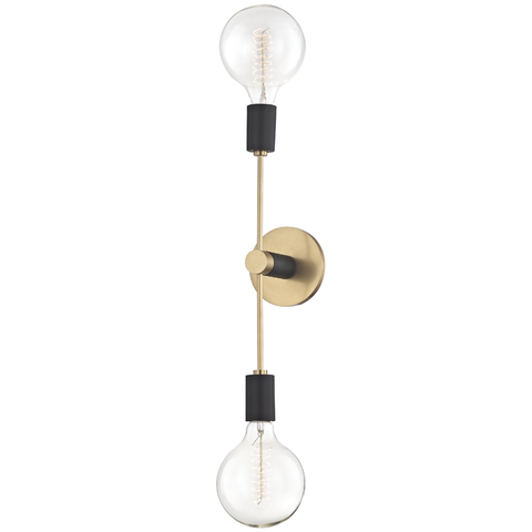 Astrid 2 Light Wall Sconce by Mitzi