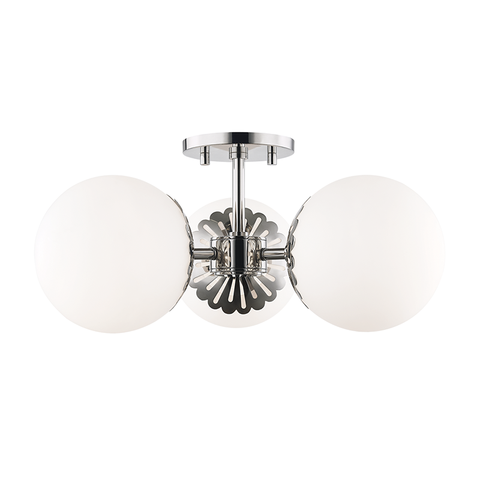 Paige 3 Light Semi Flush by Mitzi