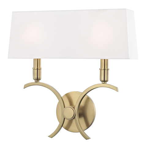 Gwen 2 Light Large Wall Sconce by Mitzi