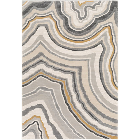 Cash HAC-2312 Rug in Charcoal & Light Gray by Surya