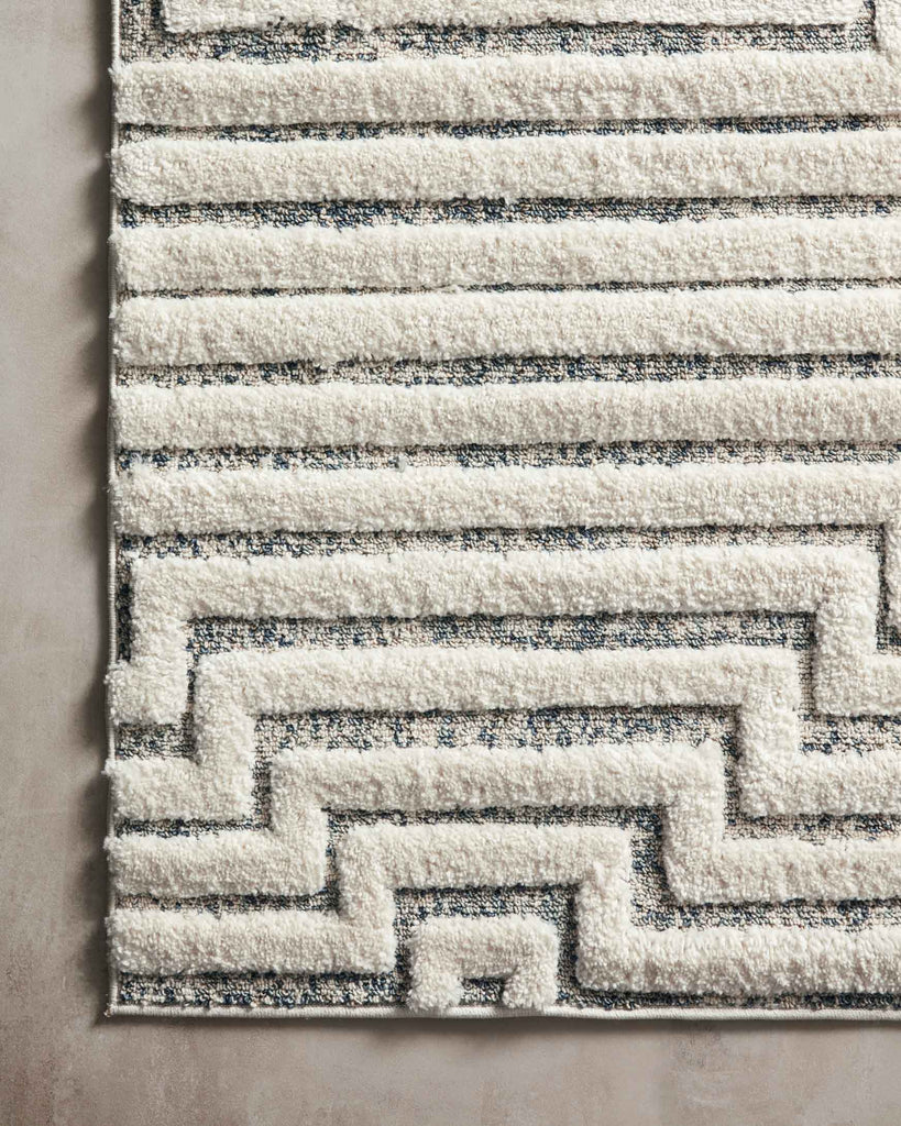 Hagen Rug in White / Sky by Loloi II