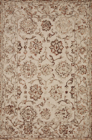 Halle Rug in Taupe / Rust by Loloi II