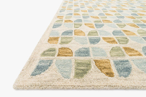 Hallu Rug in Ivory & Sky by Loloi
